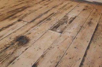 Как избавиться от плесени на деревянном полу