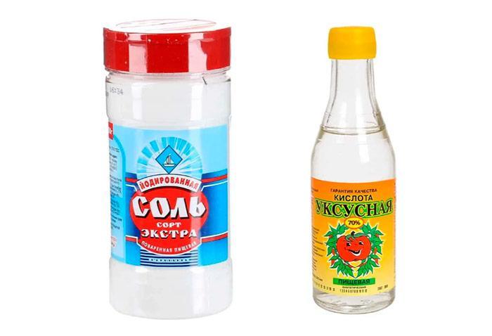 Сода и уксус от плесени